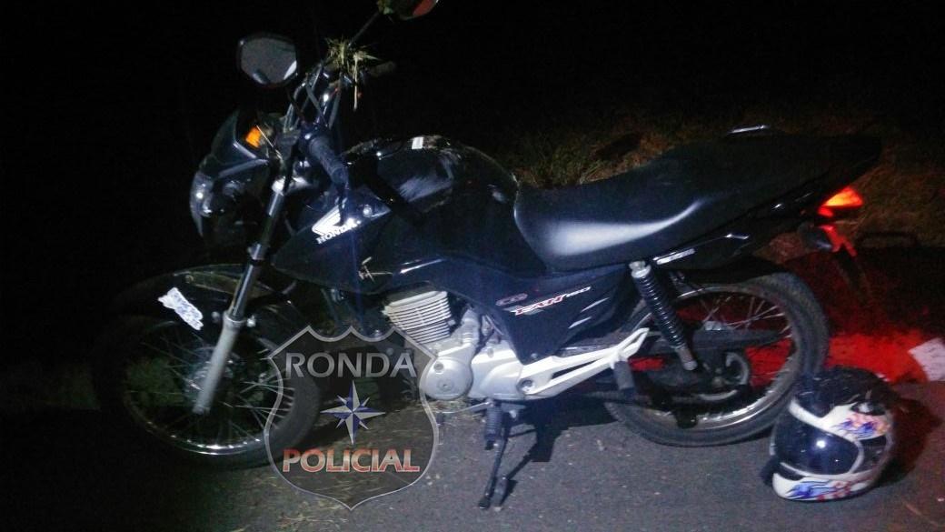 Motociclista fica ferido ao sofrer queda na 282