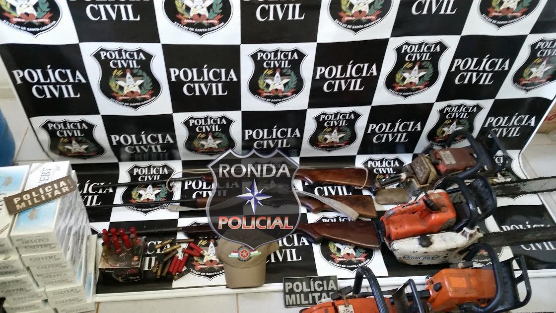 Polícia Civil apreende armas, munições e produtos furtados