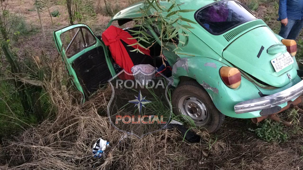 Três pessoas ficam feridas em acidente na SC-480
