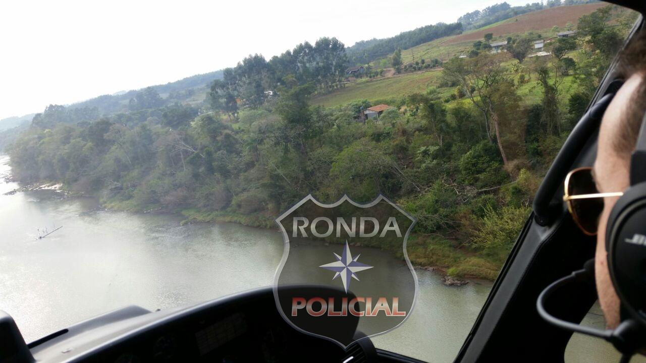 Equipes realizam buscas por dois desaparecidos no Rio Uruguai