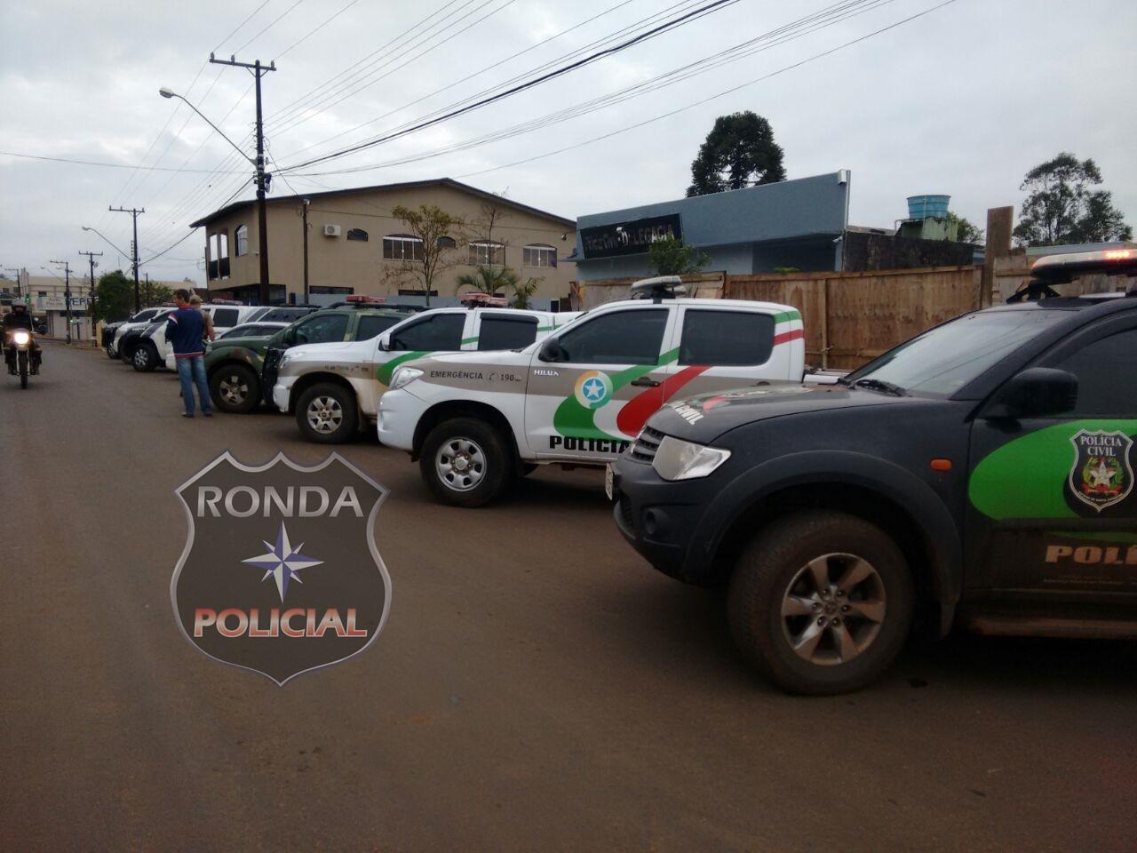 Suspeitos de roubo são detidos em operação conjunta entre polícia de SC e PR