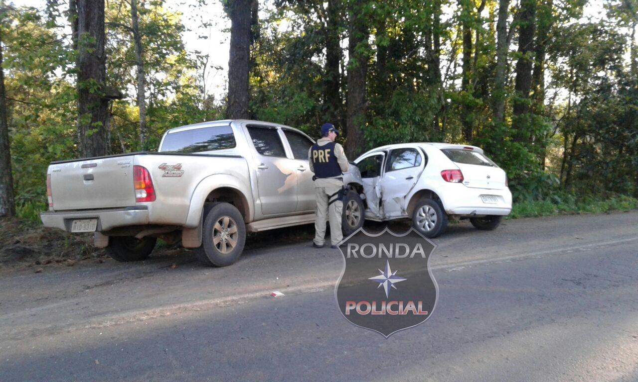 Idoso fica ferido depois de se envolver em acidente na BR-282