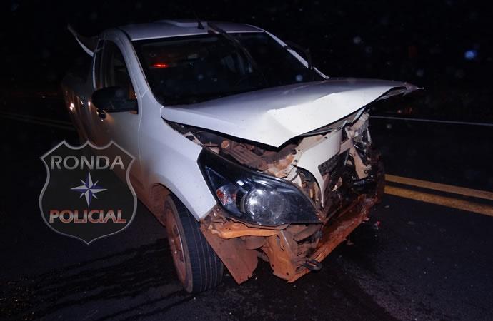 Três pessoas ficam feridas em acidente na BR-163