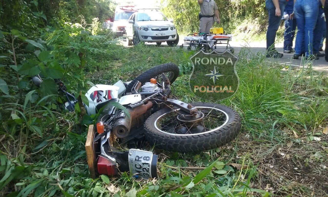 Motociclista embriagado fica ferido ao sofrer queda na SC-154