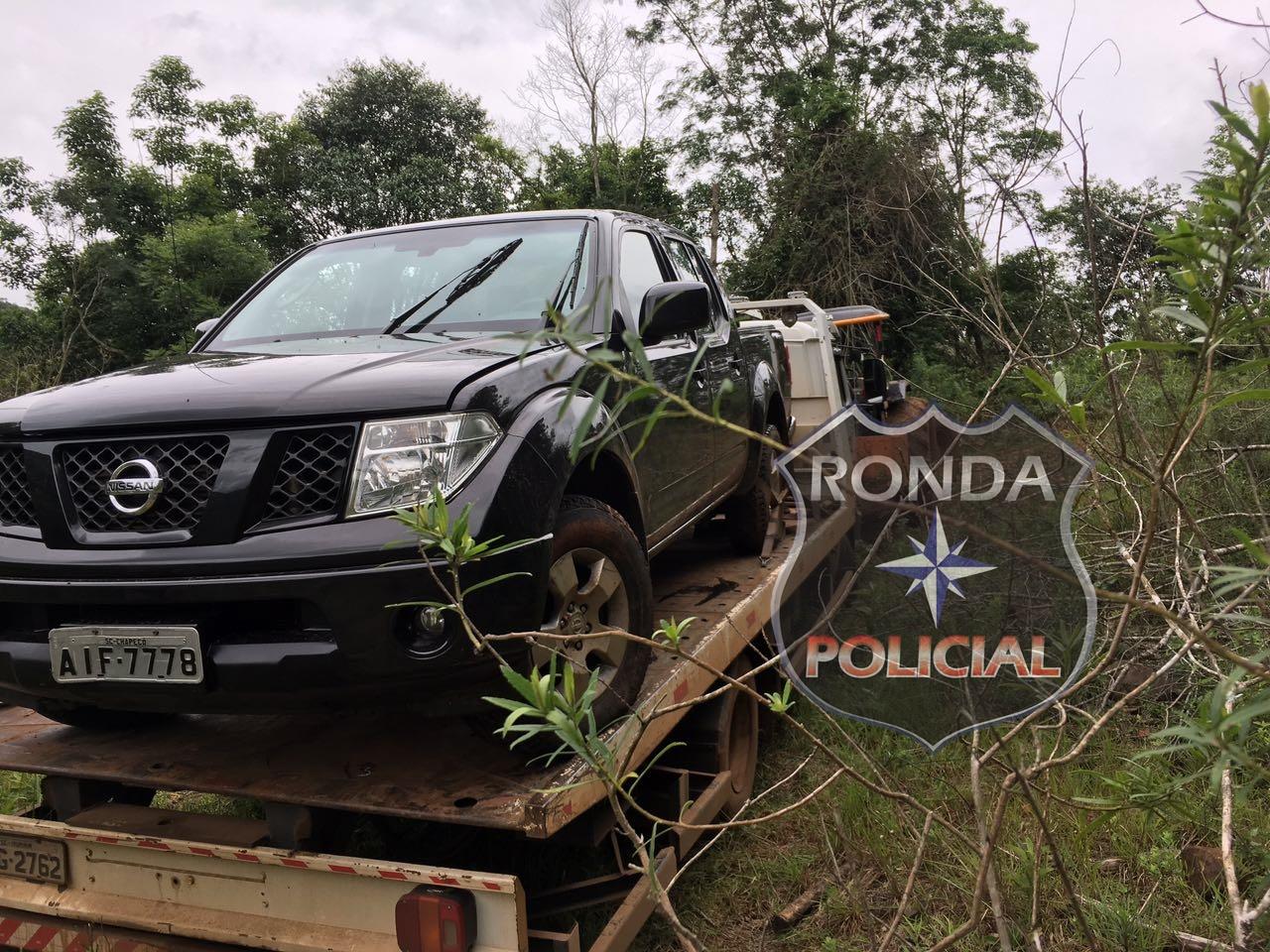 PM recupera camioneta furtada em Chapecó