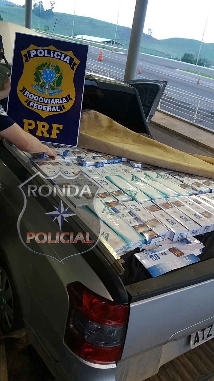 PRF apreende cerca de 40 mil maços de cigarro na BR-282
