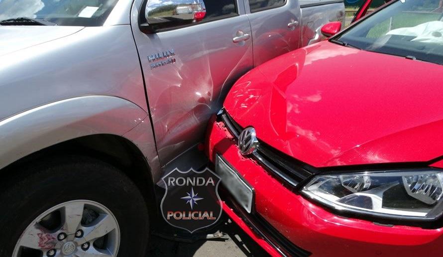 Gestante fica ferida em colisão envolvendo camioneta de Xanxerê