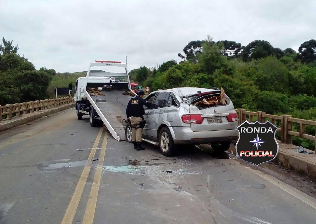 Idoso de Chapecó fica ferido em acidente na BR-470