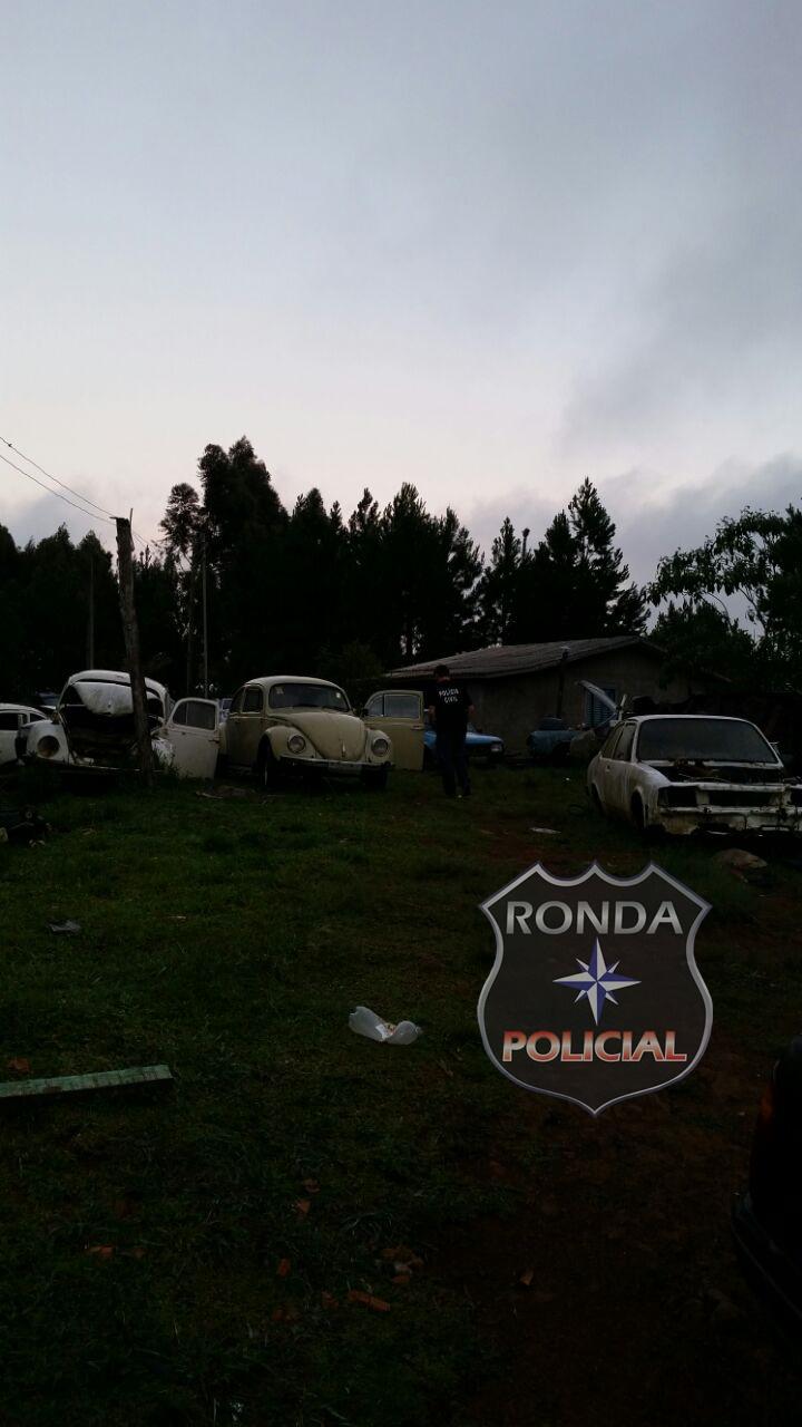 Ação conjunta entre PM e PC descobre ferro velho clandestino em área do Incra