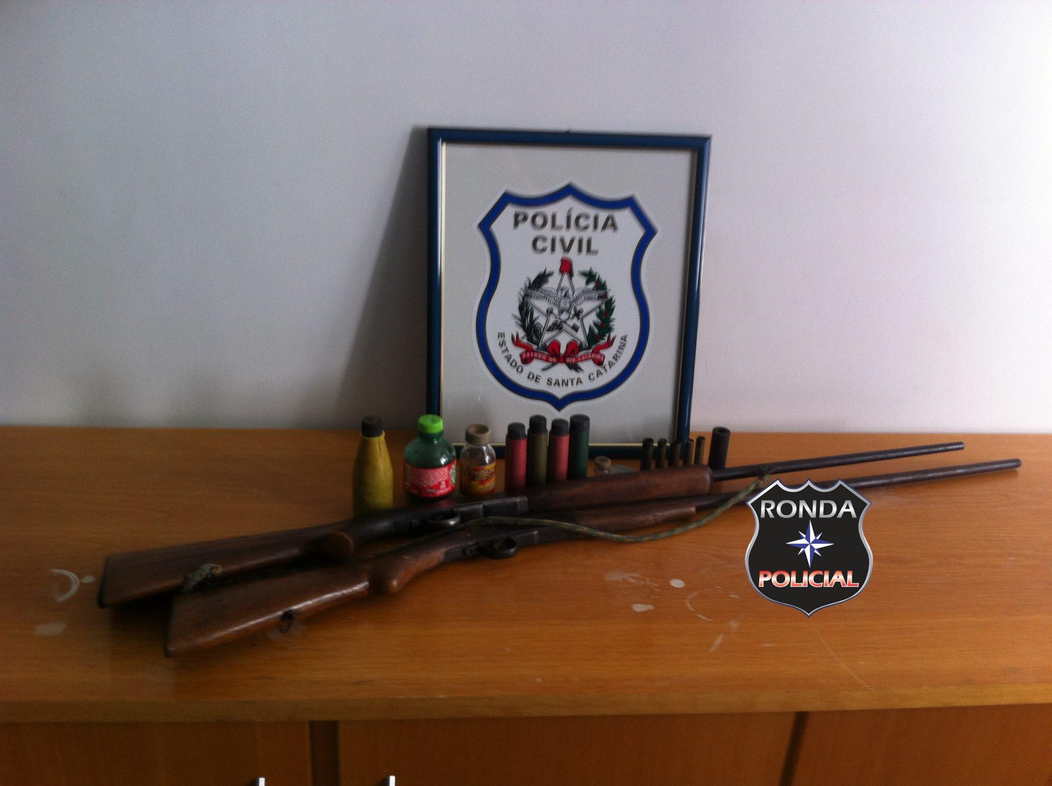 Polícia Civil apreende armas de fogo em propriedade rural