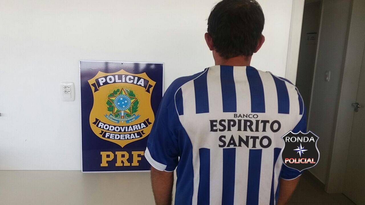 PRF captura homem condenado pela Justiça