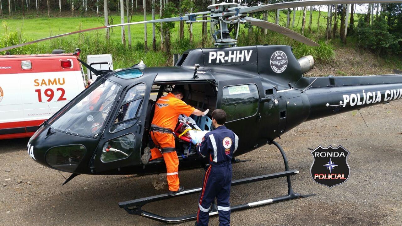 Quatro pessoas ficam feridas em acidente na BR-282