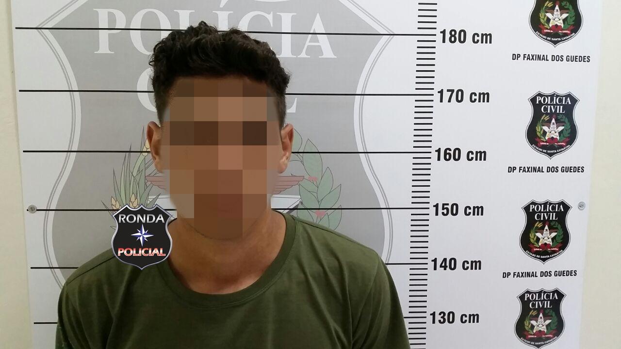 EXCLUSIVO – Polícia Civil captura assaltante de posto de combustível em Faxinal dos Guedes