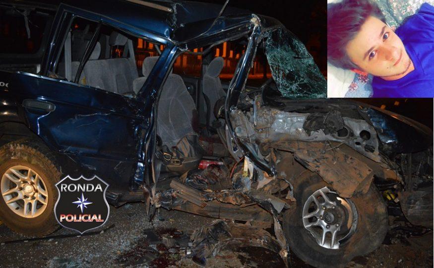 EXCLUSIVO – Jovem morre em grave acidente na Avenida Brasil em Xanxerê