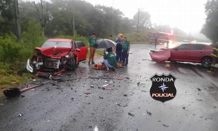 Seis pessoas ficam feridas em violenta colisão na SC-155