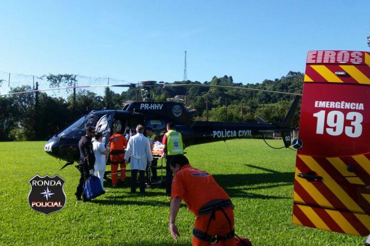 Jovem vítima de atropelamento é transferido pelo Saer ao HRO