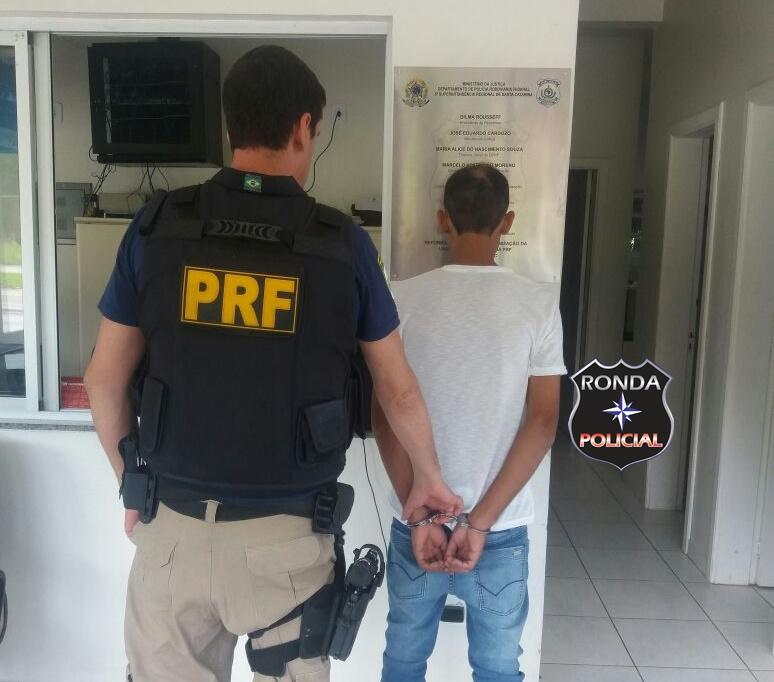 Foragido da justiça é preso em operação da PRF na 282