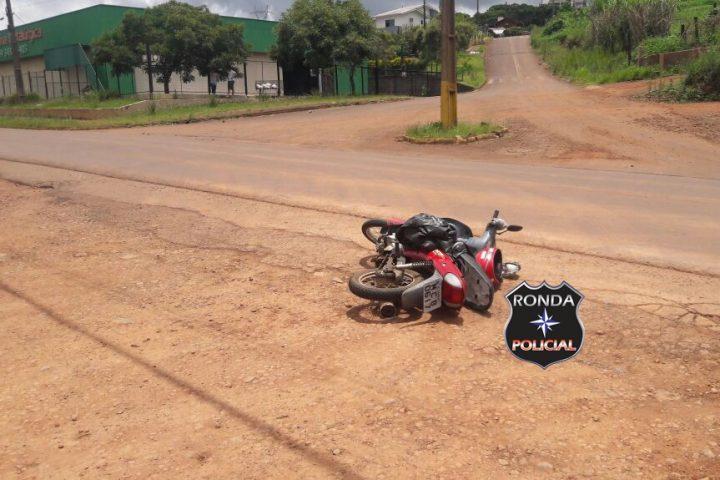 Idoso fica gravemente ferido ao ser atropelado por moto em Xanxerê
