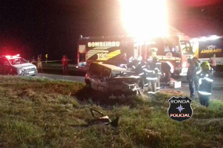 Grave acidente entre caminhão e carro deixa mais uma vítima fatal na 282