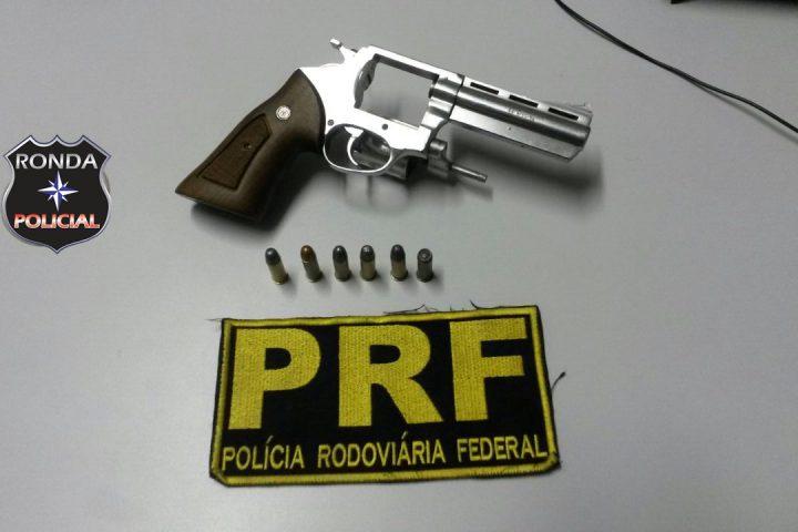 PRF apreende arma em Xanxerê durante operação na BR-282