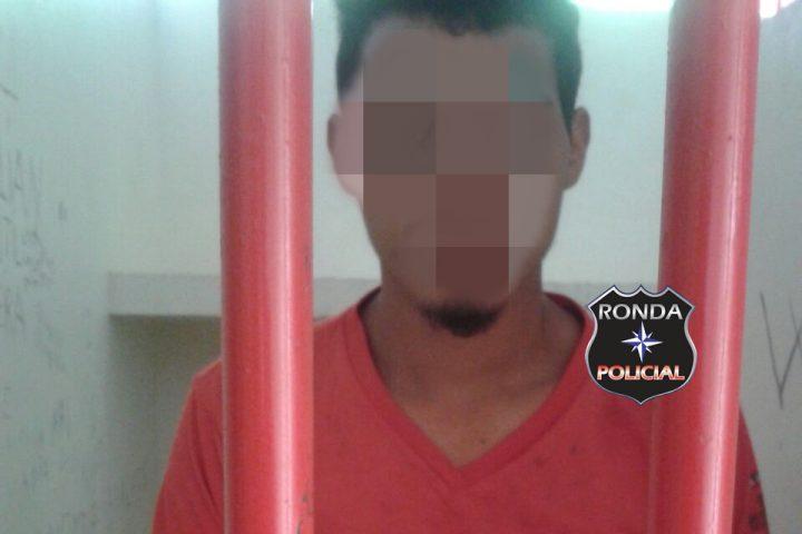 Jovem é preso depois de agredir e ameaçar de morte companheira