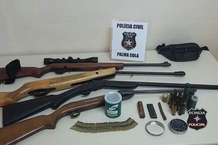 Armas e farta munição são apreendidas pela Polícia Civil