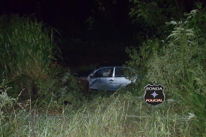 Motorista abandona carro ao capotar veículo na SC-155