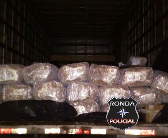 Caminhoneiro de Xaxim é preso em flagrante com três toneladas de camarão contrabandeado