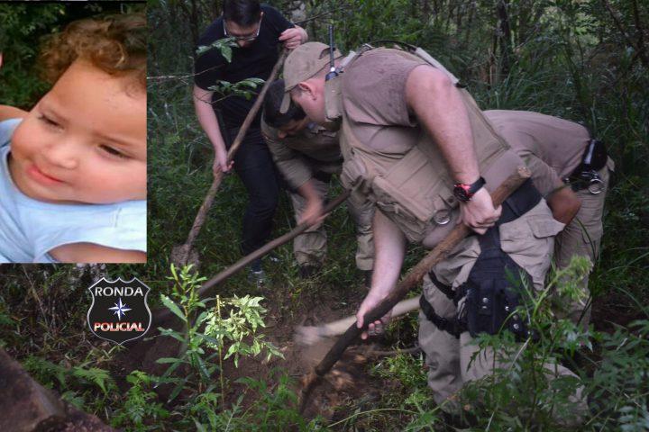 EXCLUSIVO – Polícia localiza em meio à mata corpo de criança assassinada pelo próprio pai há oito meses