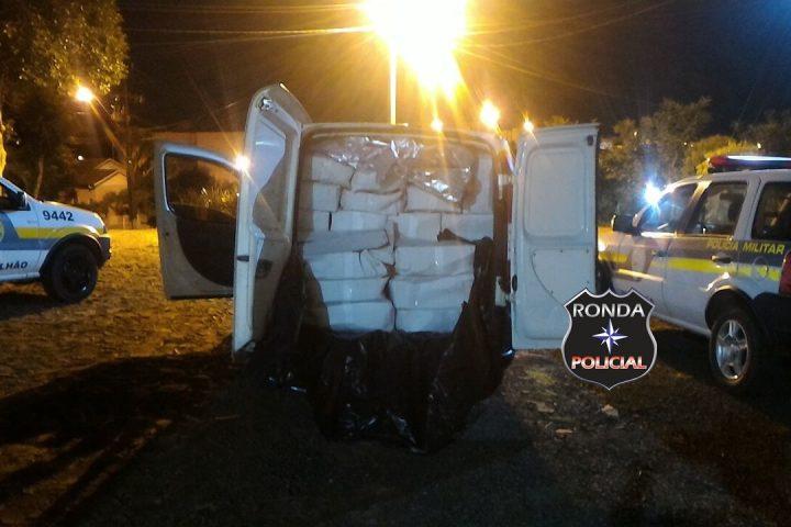 Motorista de Chapecó é flagrado transportando 700 kg de camarão contrabandeado