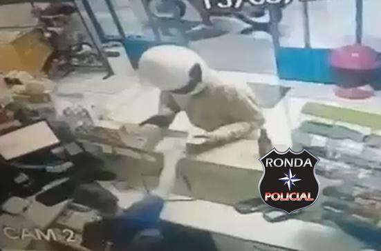 Assalto a mão armada é registrado em posto de combustível