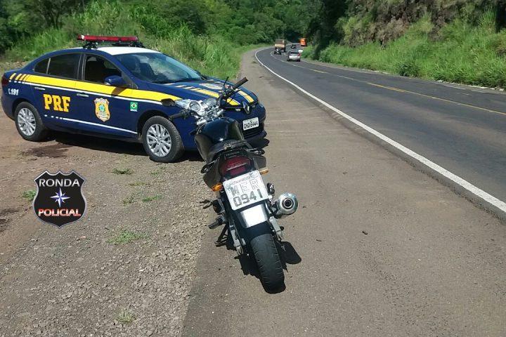 Queda de motociclista é registrada na 282