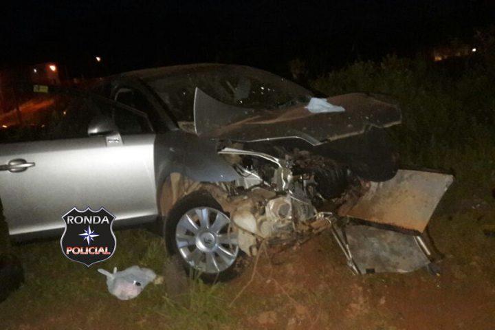Mulher fica ferida ao capotar veículo de Xanxerê na 282