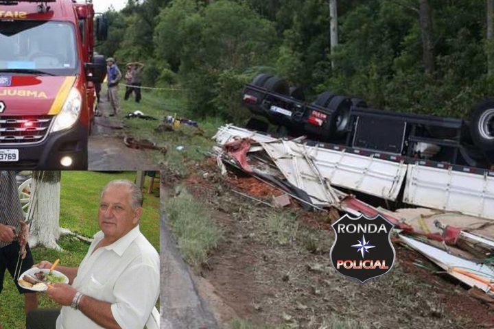Caminhoneiro do Oeste morre ao capotar carreta no PR
