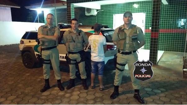 PM captura assaltante foragido da justiça paranaense