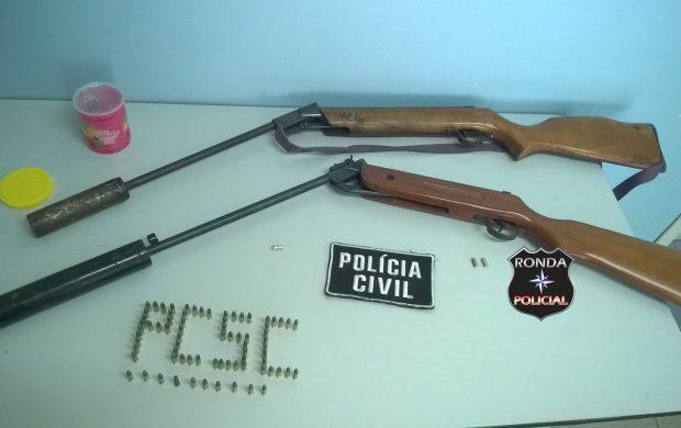 Polícia Civil prende homens de posse de armas adulteradas