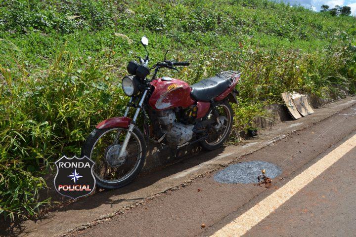 Motociclista fratura a perna em acidente na SC-480