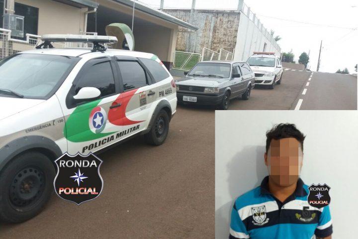 Jovem não habilitado acaba preso depois de fugir de abordagem policial com veículo de Xanxerê