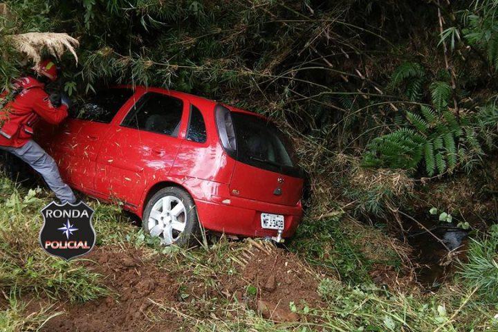 Motorista fica ferido em acidente na BR-153