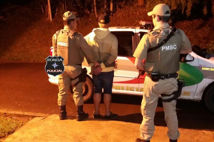 Traficante procurado pela justiça é capturado pela PM e encaminhado ao Presídio de Xanxerê
