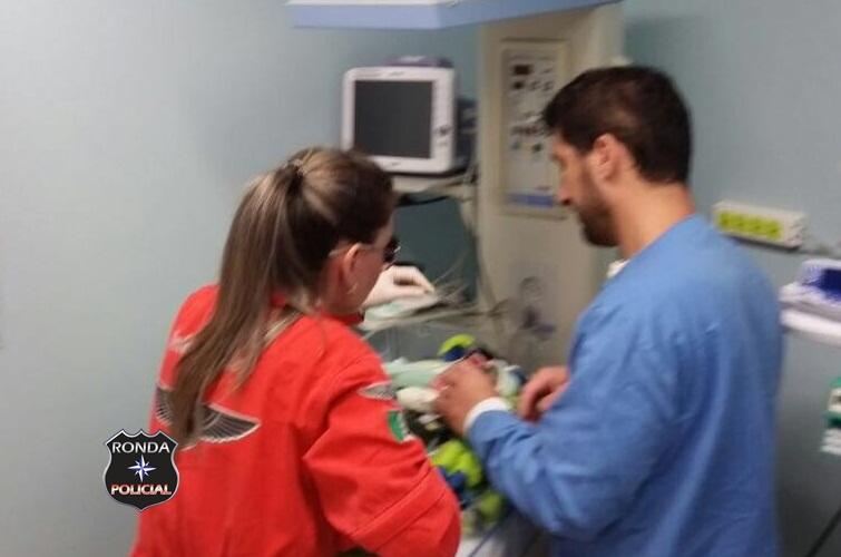 Saer e Sara realizam transferência de urgência de recém-nacido do Oeste para a capital
