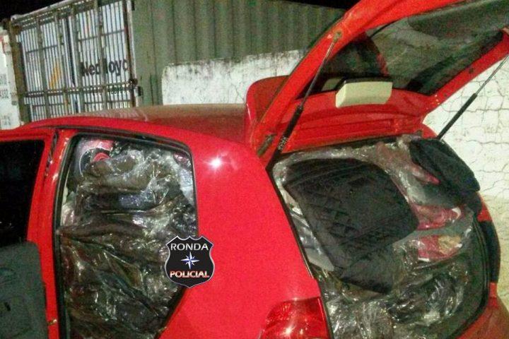Veículo gaúcho é flagrado com contrabando do Paraguai no Oeste