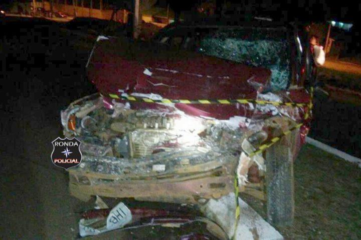 Duas pessoas ficam gravemente feridas em acidente com caminhão de Xanxerê na 282