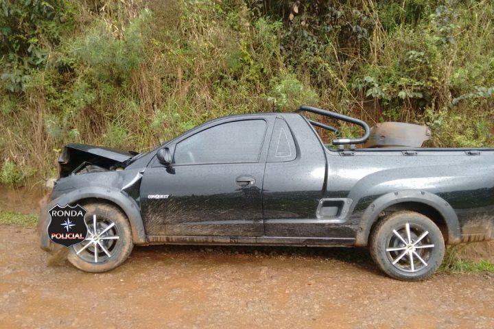 Duas pessoas ficam feridas em acidente no interior