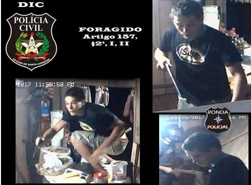 Polícia Civil divulga imagem e busca ajuda para identificar assaltante