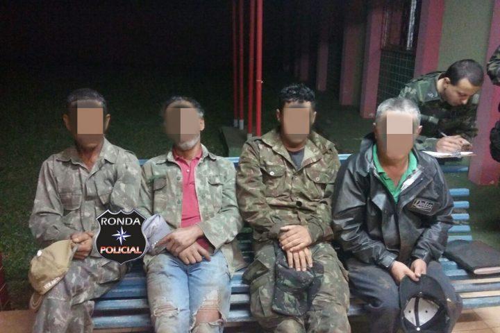 Polícia Ambiental prende quatro de posse de arma de fogo no interior