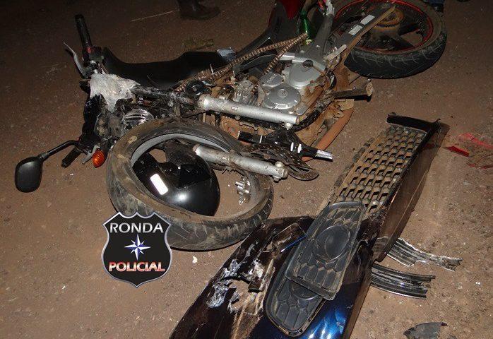 Engavetamento deixa motociclista gravemente ferido