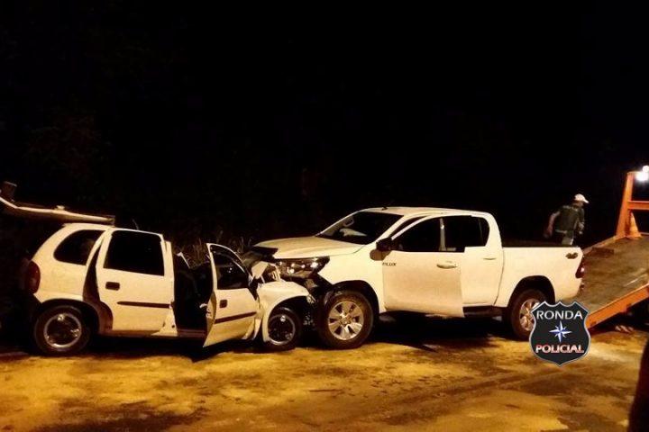 Grave acidente deixa cinco feridos na SC-480