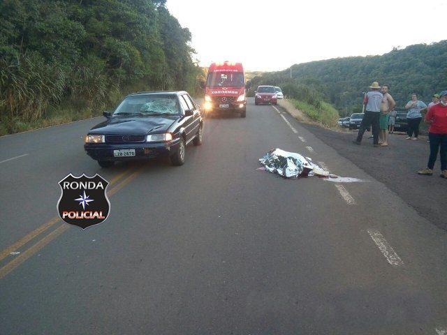Idoso morre ao ser atropelado ao atravessar rodovia