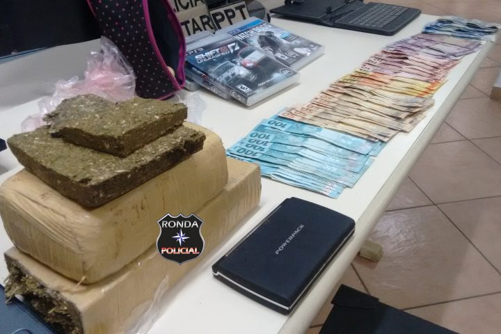 Irmãos são presos com grande quantidade de drogas, dinheiro e objetos furtados
